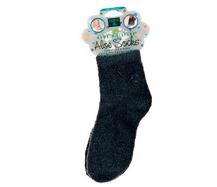 earth therapeutics aloe socks in black