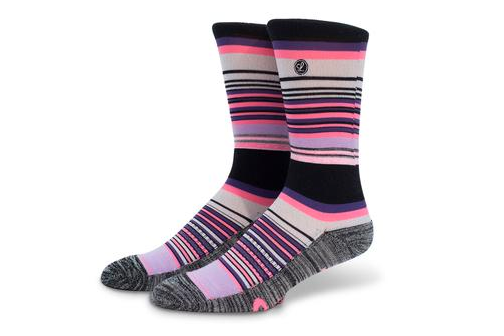 legends brand pink striped socks
