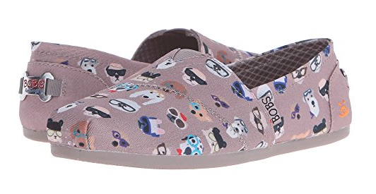 bobs by skechers slippers with dog print