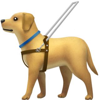 Emoji of dog with harness
