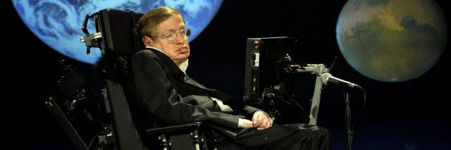 Stephen Hawking in 2008 at NASA.