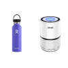 hydroflask, air purifier and peppermint essential oil