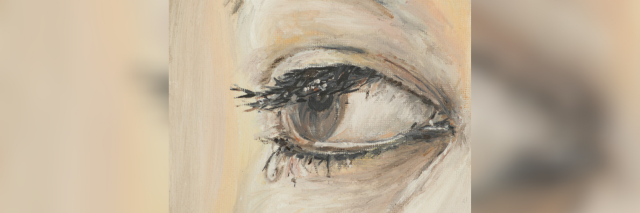 illustration of a woman's eye crying