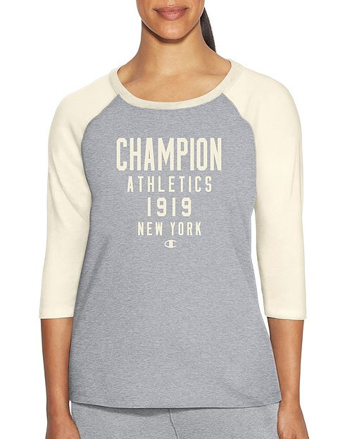 champion heritage tee with 3/4 sleeves