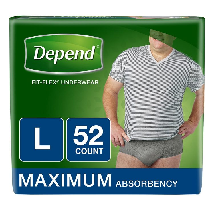 depend fit flex incontinence underwear for men
