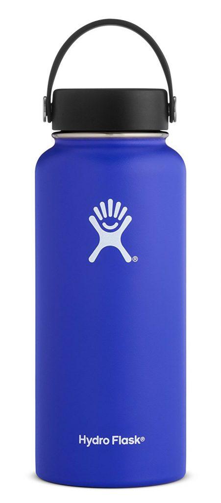 blue hydroflask water bottle