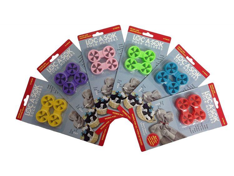 multi-colored sock locks