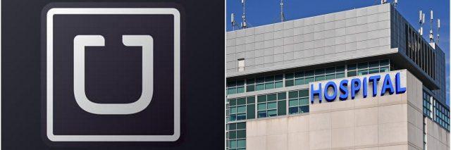 uber logo and hospital