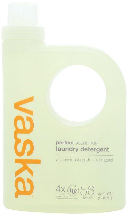 vaska scent-free laundry detergent