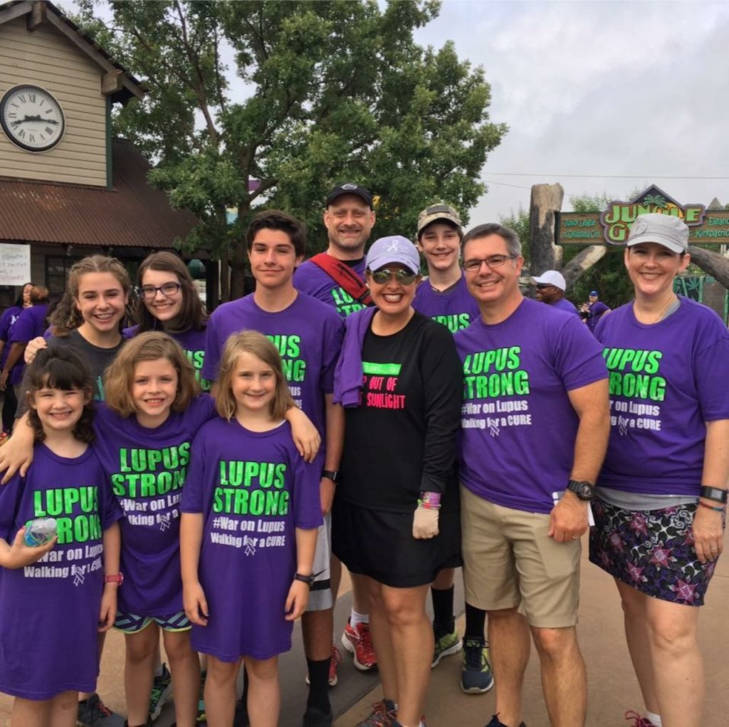 a group of people at a lupus walk