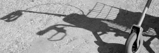 Silhouette of a walker.