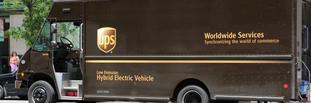 UPS truck.