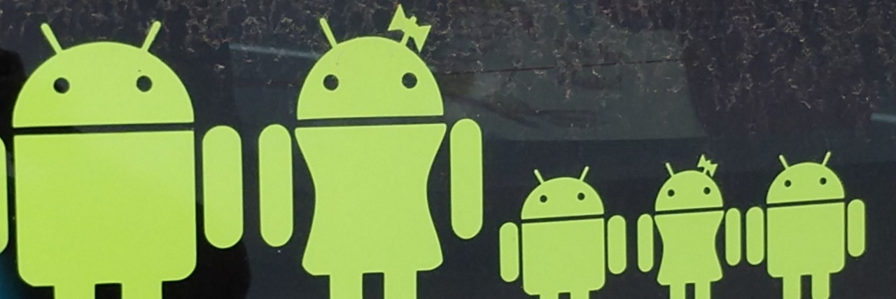 Android logos.