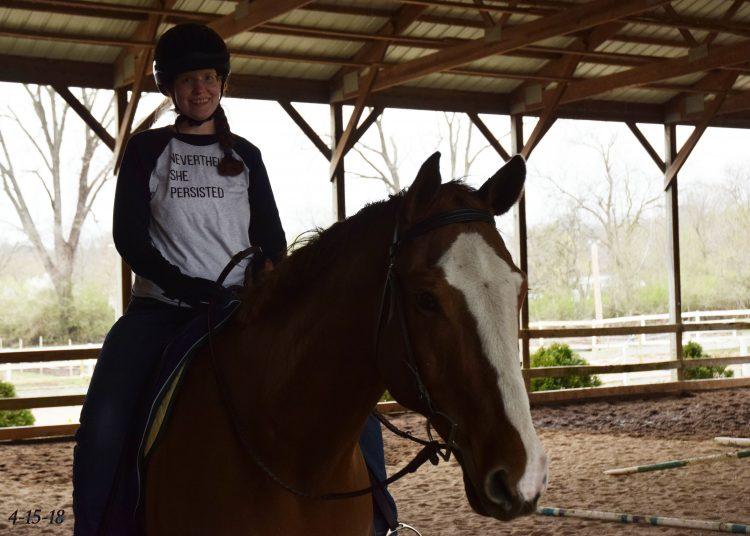 Sally on a horse