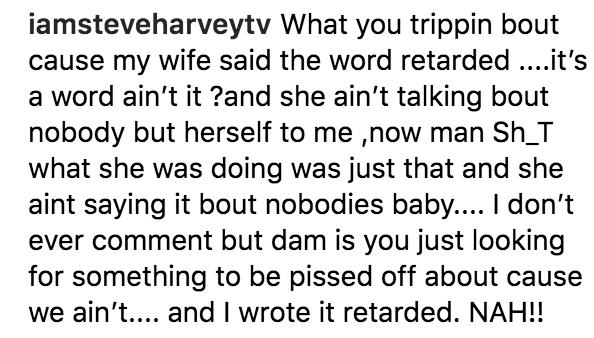 Steve Harvey's response to Marjorie Harvey's Instagram Post