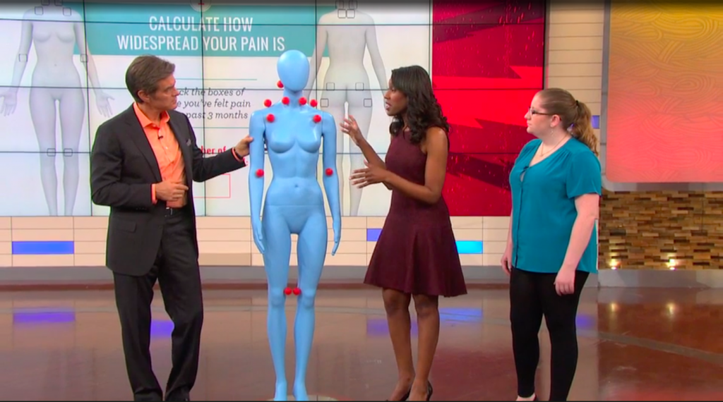 dr. oz and dr. caudle discussing fibromyalgia trigger points on the dr. oz show
