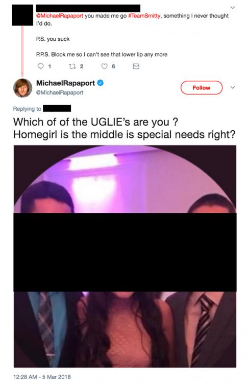 Michael Rapaport Tweet