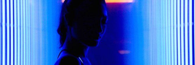 woman neon light
