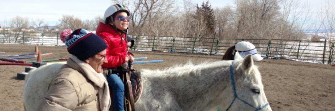 mila on a horse