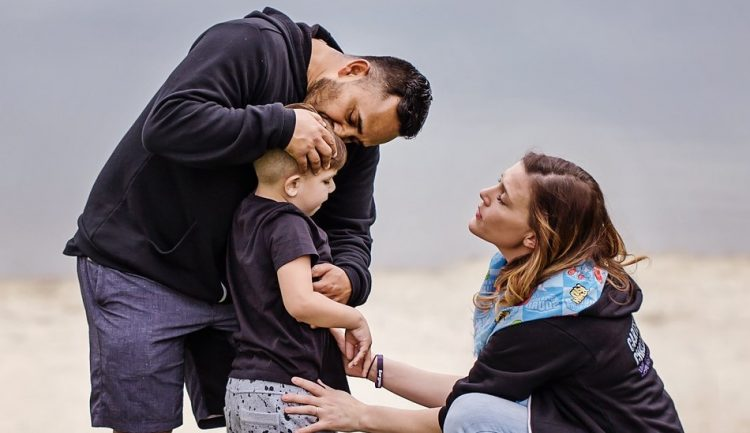 Jen, Jen's son, and husband