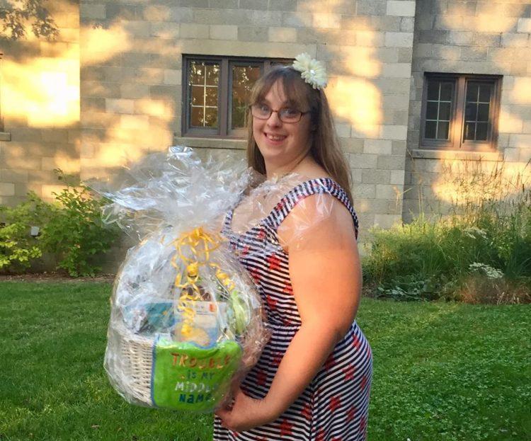 Brittney holding a basket