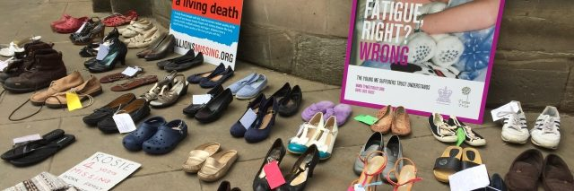 shoes and signs from millions missing in birmingham england