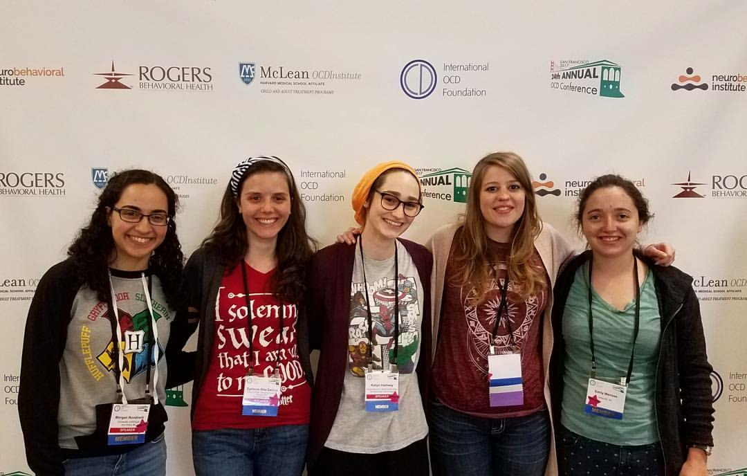 group of young women at OCD conference by international OCD foundation