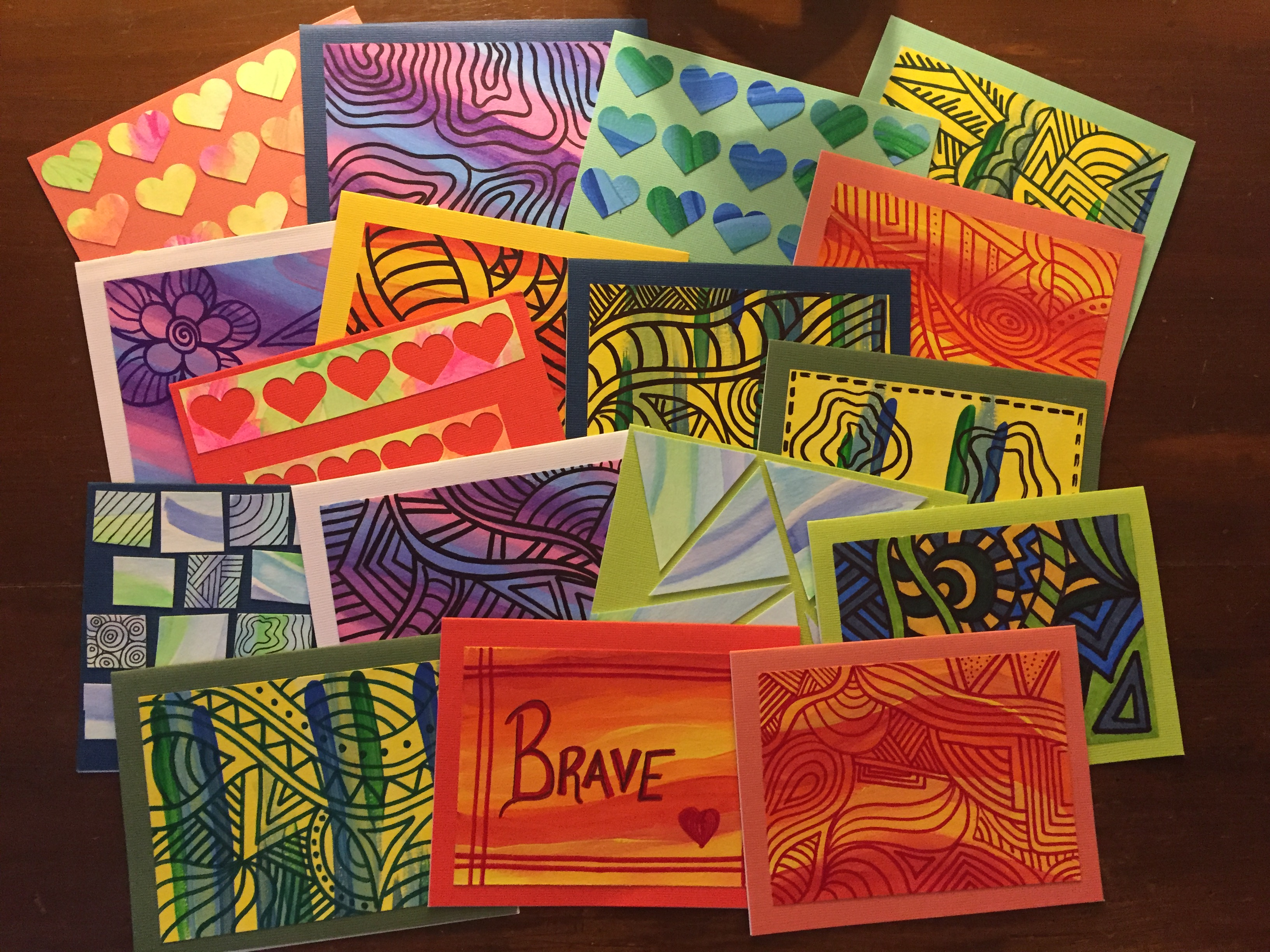 'not alone notes' for ocd awareness on colorful card