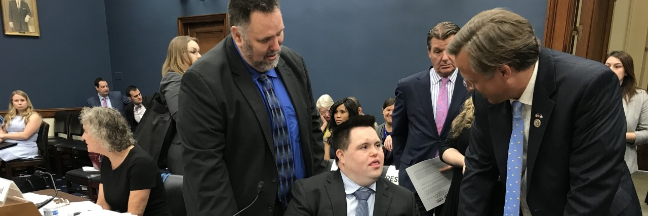 John and Mark Cronin at congress