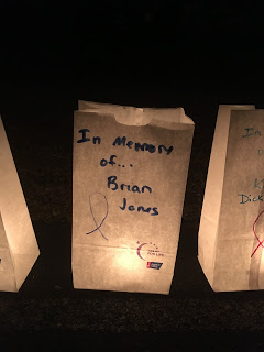 bag that says in memory of brian jones