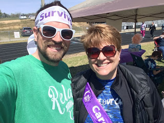 My mom and me at Relay