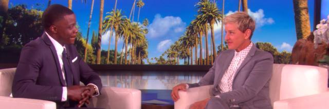 James Shaw Jr. on the set of the Ellen Show