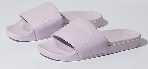 pale purple slide sandal