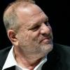 Photo of Harvey Weinstein looking right.