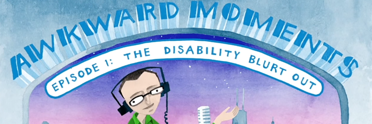 "Title image from ""Awkward Moments"" with Jason Benetti animated series about disability."