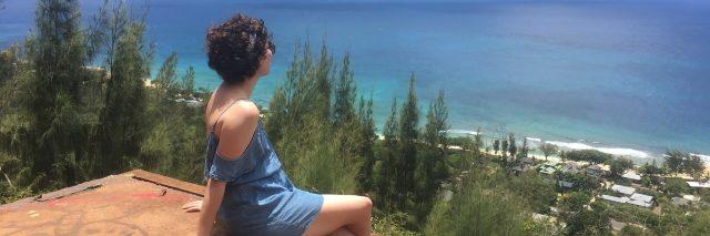 sitting on a cliff in tasmania