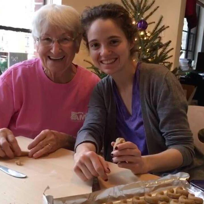 woman and her grandma
