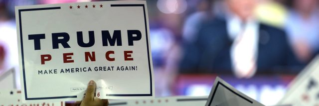 trump pence election sign
