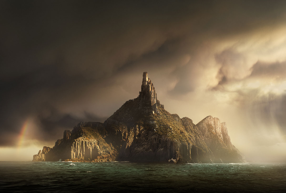 adam williams photographer image of island in storm