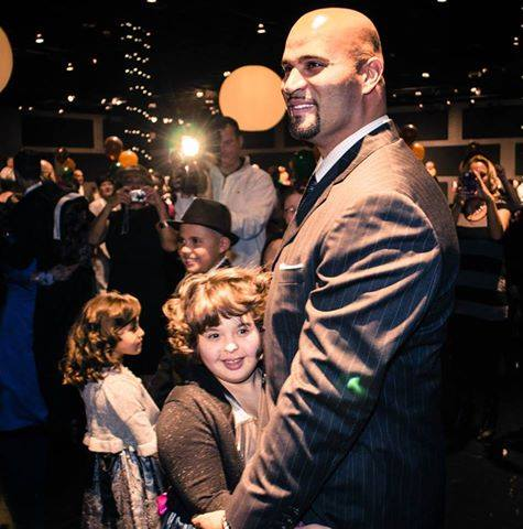 Albert Pujols with daughter Isabella at a dance