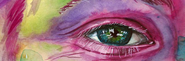 Face with watercolors