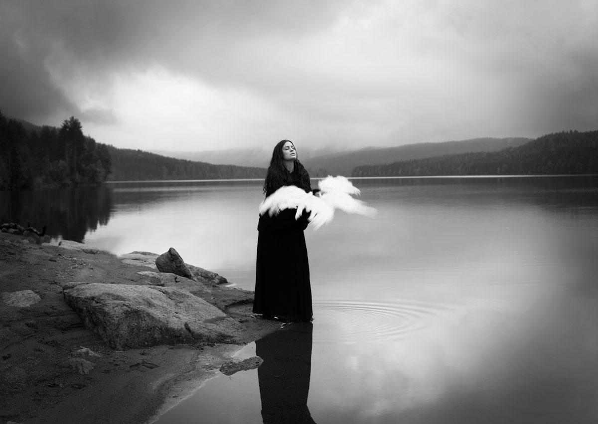 Maren Elize Klemp photographer image of woman by lake