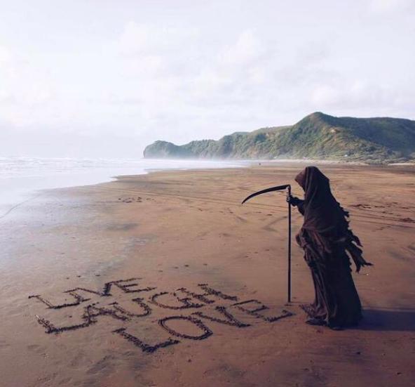 live laugh love grim reaper