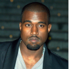 """Image of Kanye West and his album cover. The cover shows mountains and reads """"I hate being bi-polar, it's awesome."""""""