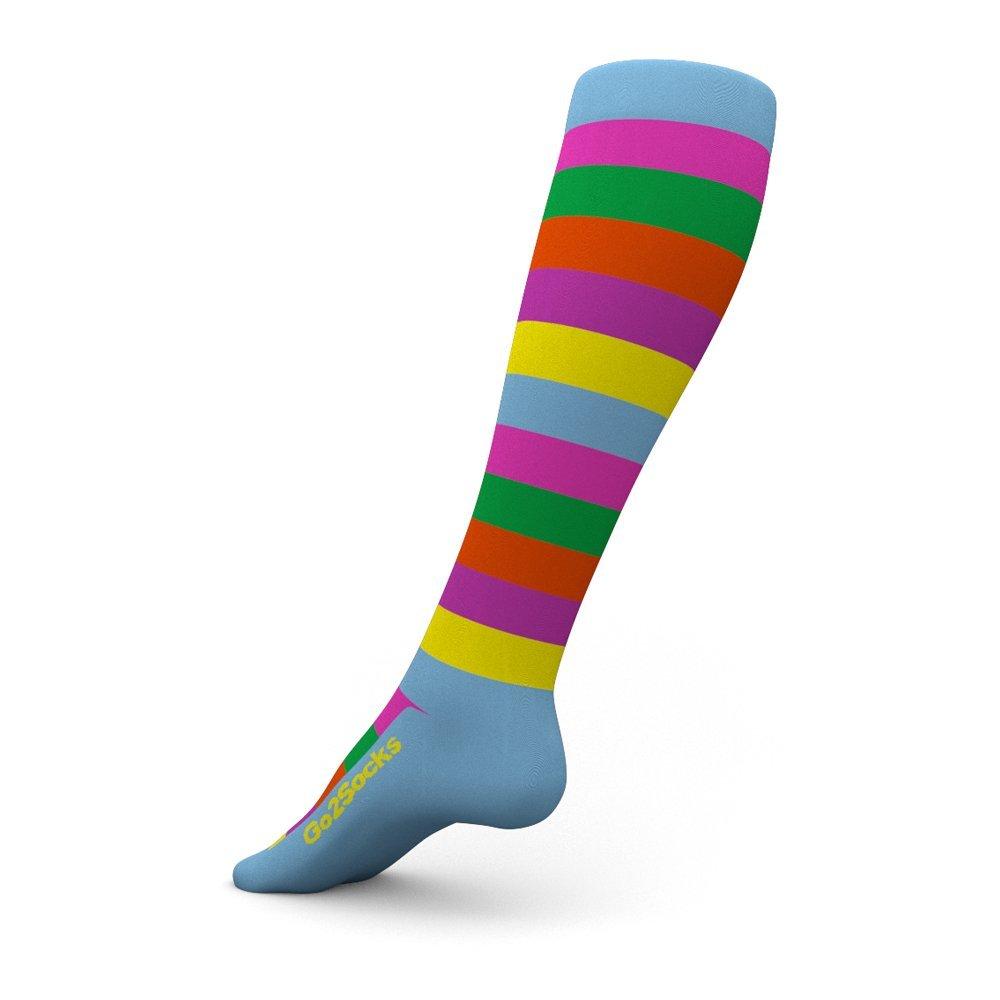 striped compression socks