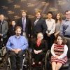 Ryan with Derek Shields and other people with disabilities.