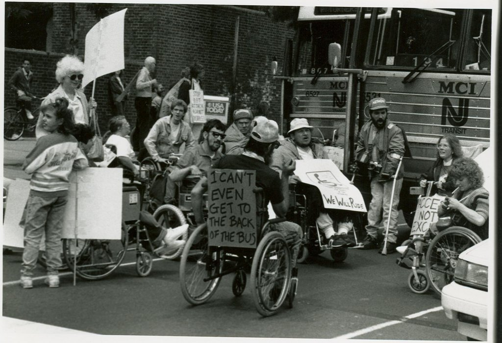 Adapt protesters in Philadelphia, 1990.
