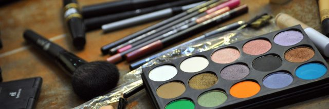 A picture featuring makeup on a counter.
