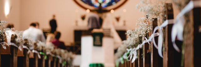 wedding ceremony at a church