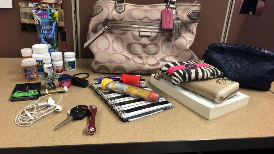 content's of the author's niece's purse